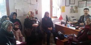 AK Partili hanımlardan muhtarlık ziyareti
