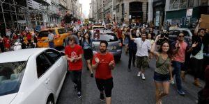 Trump, New York'a gelmeden protesto gösterileri başladı