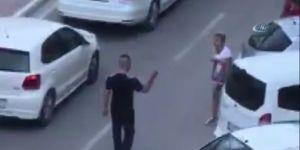 Maltepe'de sokak ortasında kadına şiddet kamerada