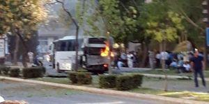 Mersin'de polis aracına saldırı!
