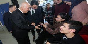 Başkan Yaşar, 2018'in ilk mesaisini engelli çocuklarla yaptı