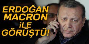Erdoğan, Fransa Cumhurbaşkanı Emmanuel Macron ile görüştü!