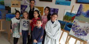 Küçük ressamlardan engellilere destek