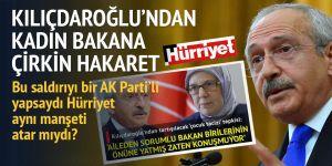 Kılıçdaroğlu'ndan kadın Bakan'a hakaret