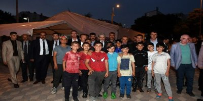 Ankara Büyükşehir Belediye Başkanı Mustafa Tuna orucunu Haymana'da açtı
