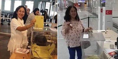 İki kez oy kullandığı ifade edilen kadın serbest
