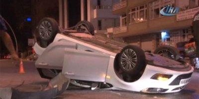 Ankara'da bir saat aralıklarla 2 kaza: 1 ölü