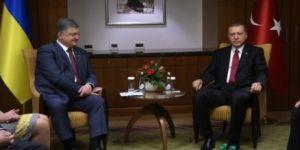 Erdoğan, Poroşenko ile görüştü