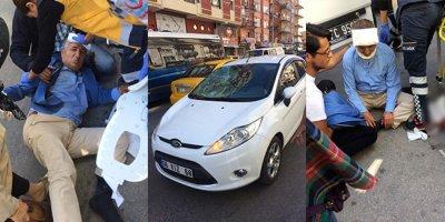 Özcan Yeniçeri'ye otomobil çarptı