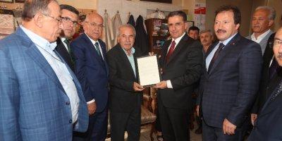 Yılın Ahisi Muzaffer Balcı işyerinde ziyaret edildi