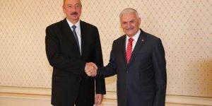 TBMM Başkanı Yıldırım, Aliyev ile görüştü!