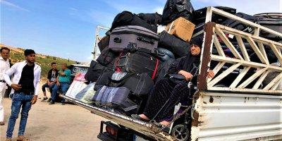 Türkiyye Kanniş valizlerle Türkiye'ye geldi