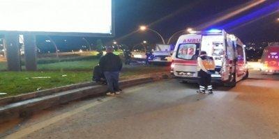 Ankara'da meydana gelen feci kazada 3 kişi yaralandı