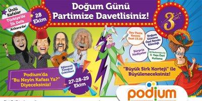 Podium Ankara 3. yaşını kutluyor