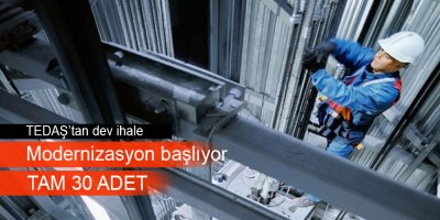TEDAŞ Asansör modernizasyonu (yenileme) ihalesi