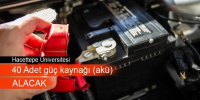 Hacettepe Üniversitesi'nden akü alım ihalesi