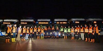 EGO otobüsleri dezenfekte ediliyor