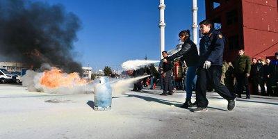 Ankara İtfaiyesi'nden yangın eğitimi