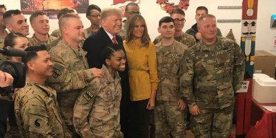 Trump'tan Irak'taki Amerikan askerlerine ziyaret