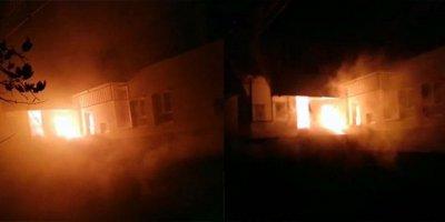 Başkanın evi cayır cayır yandı