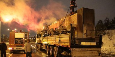 Ankara'da tır yangını