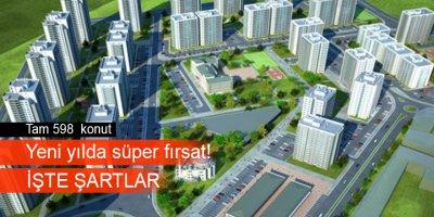 TOKİ Sincan/Saraycık Mahallesi'nde 598 konutun satışını yapacak