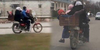 Bir motosikletle 6 kişi seyahat etti