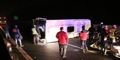 Bolu dağında feci kaza