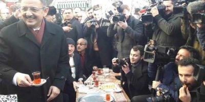 Mehmet Özhaseki seçim startını Ulus'ta verdi