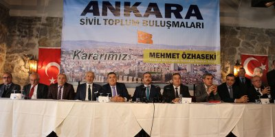 Ankara'nın STK'larından tam destek: Kararımız Özhaseki