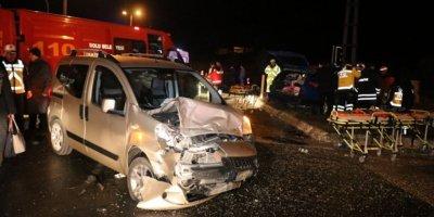 Bolu'da feci kazada 9 kişi yaralandı