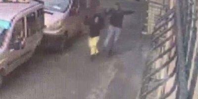 Kadına şiddet kameraya yansıdı