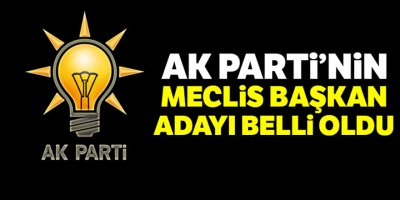 AK Parti'nin Meclis Başkan adayı Mustafa Şentop!