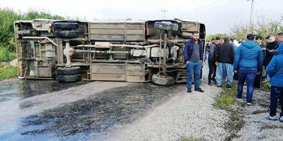 Feci kazada 1 kişi öldü, 15 kişi yaralandı