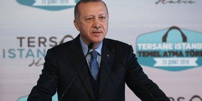 """Erdoğan: """"Tersane İstanbul"""" projesi İstanbul'u çok farklı bir konuma taşıyacak"""