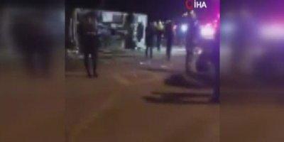 Ankaragücü taraftarını taşıyan otobüs kaza yaptı: 2 ölü, 23 yaralı