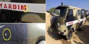 Ermenistan, cephe hattında yaralı taşıyan ambulansı vurdu