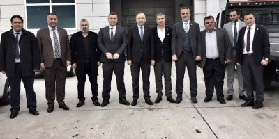 Hacı Turan esnaf ziyaretinde
