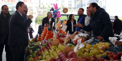 Başkan Demirel esnaf ziyaretinde