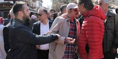 Mansur Yavaş'a cenazede tepki