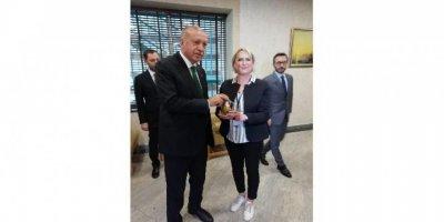 Erdoğan'a çam kahvesi ikram edildi