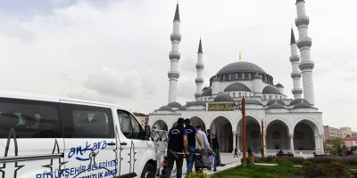 Başkent camilerinde temizlik seferberliği