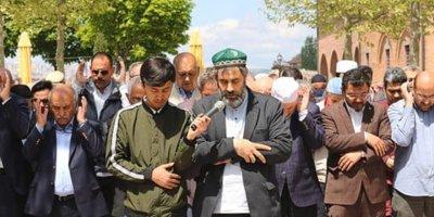 Çin Zulmü Hacı Bayram Camii'nde protesto edildi