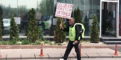 CHP önünde pankartlı protesto