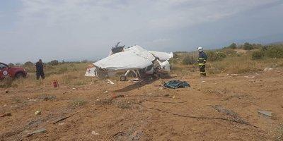 Antalya'da eğitim uçağı düştü: 1 ölü, 2 yaralı