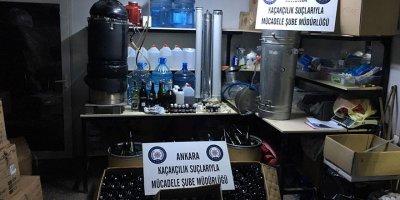 Sahte alkol üretim tesisine baskın