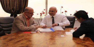 Halk Bankası Genel Müdürü Osman Arslan'ı ATO üyeleriyle bir araya geldi