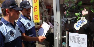 Polatlı'da ruhsatsız 48 iş yeri kapatıldı