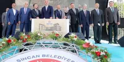 Sincan Belediyesi Kültür ve Kongre Merkezinin temeli atıldı