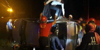 Kırıkkale'de otomobil devrildi: 4 yaralı